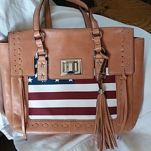 Aimee Kestenberg  Leather Flag Handbag